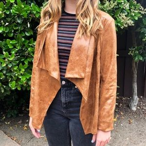 Vici | Faux Leather Brown Jacket
